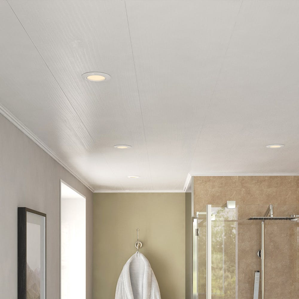 Ancona White Ash Ceiling Panels (4no. 2700mm x 250mm x 8mm)