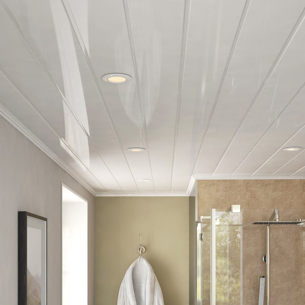 Ancona Double White Gloss Ceiling Panels (4no. 2700mm x 250mm x 8mm)
