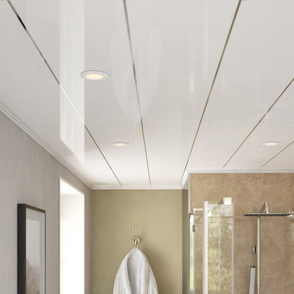 Ancona Single Chrome Gloss Ceiling Panels (4no. 4000mm x 250mm x 8mm)