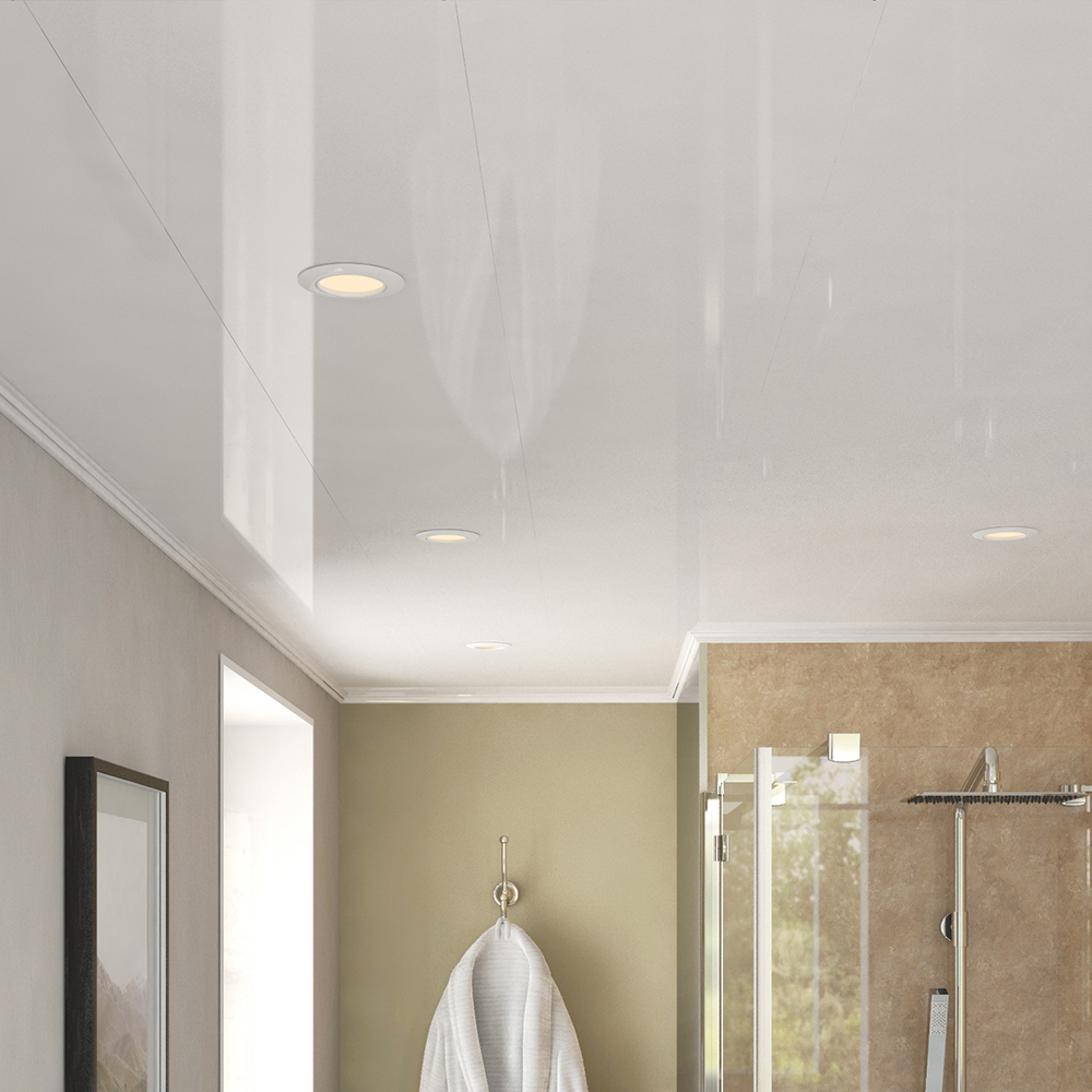 Ancona Single White Gloss Ceiling Panels (2700mm x 250mm x 8mm ...