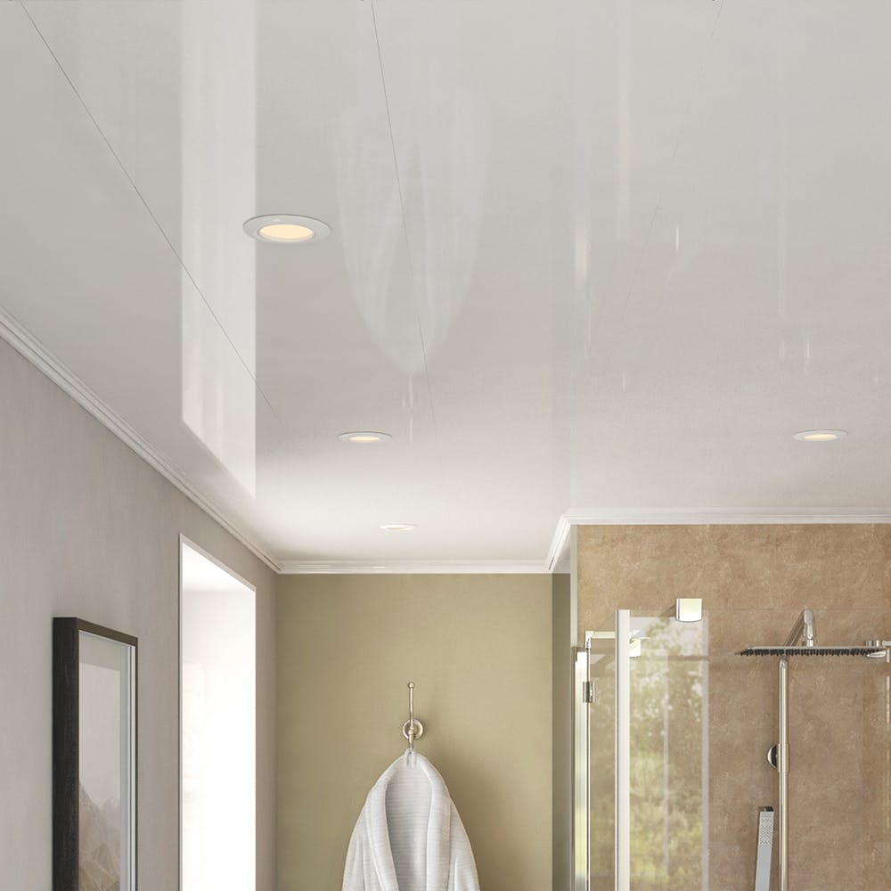 Ancona Single White Gloss Ceiling Panels (4no. 4000mm x 250mm x 8mm)