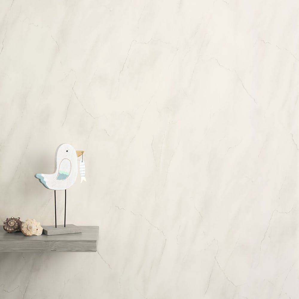 Max-Fit Light Grey Marble Gloss PVC Shower Wall Panel (2400mm x 1000mm x 10mm)