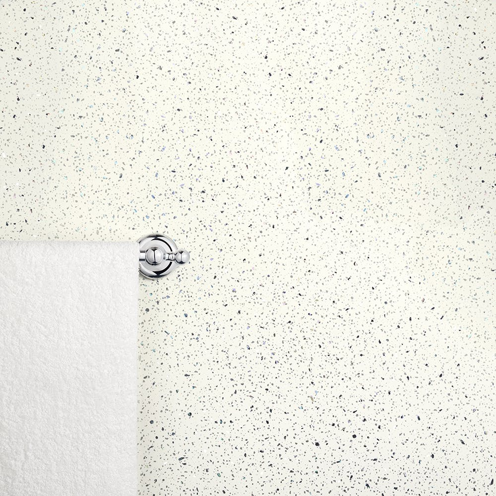 Ancona White Sparkle PVC Shower Wall Panel (2400mm x 1000mm x 10mm)