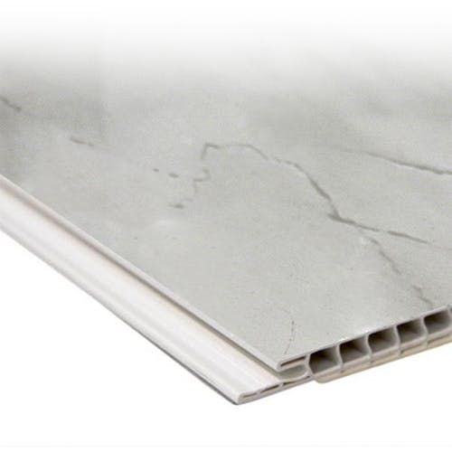 Max-Fit Light Grey Marble Gloss PVC Shower Panel (2400mm x 1000mm x 10mm)