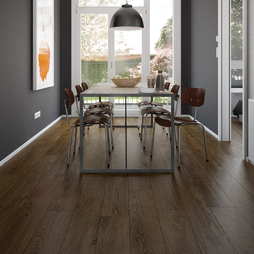 Clixeal Traditional Vintage Oak plank effect click vinyl flooring. 1.75 square metres (8 Planks per box)