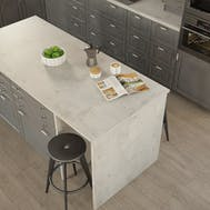 Getalit Concrete White (BN230 Si) Bullnosed Breakfast Bar (4100mm x 900mm x 39mm)