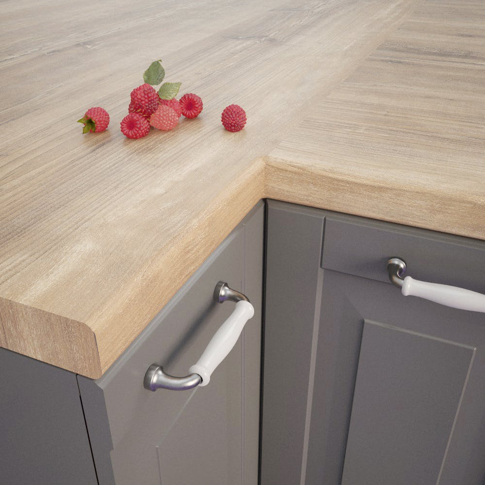 Getalit Atacama Cherry Tree (KBV 932 Si) Bullnosed Worktop (4100mm x 600mm x 39mm)