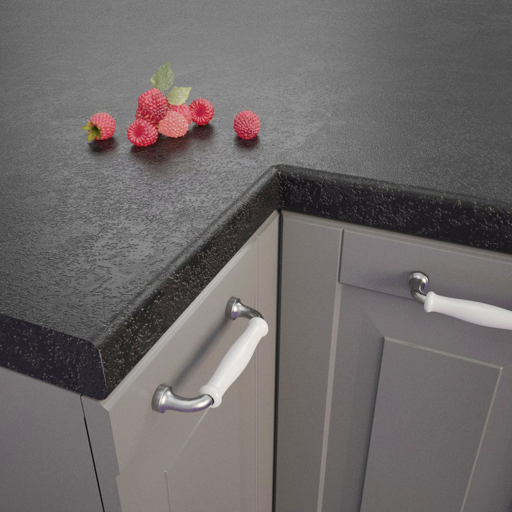 Getalit Black (A1 Ce) bullnose worktop (4100 x 600 x 39mm)