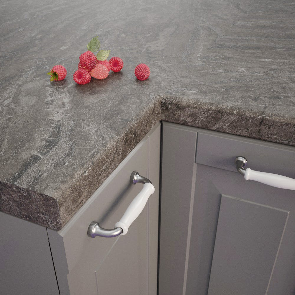 Bronze Brown (BZ 715 Si) Bullnosed Worktop (4100mm x 600mm x 39mm)