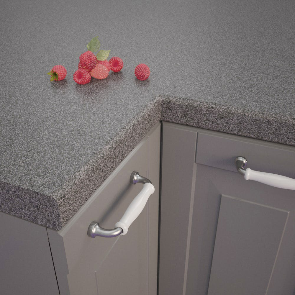 Multicolour Lava-Anthracite (RS 431 C) Bullnosed Worktop (4100mm x 600mm x 39mm)