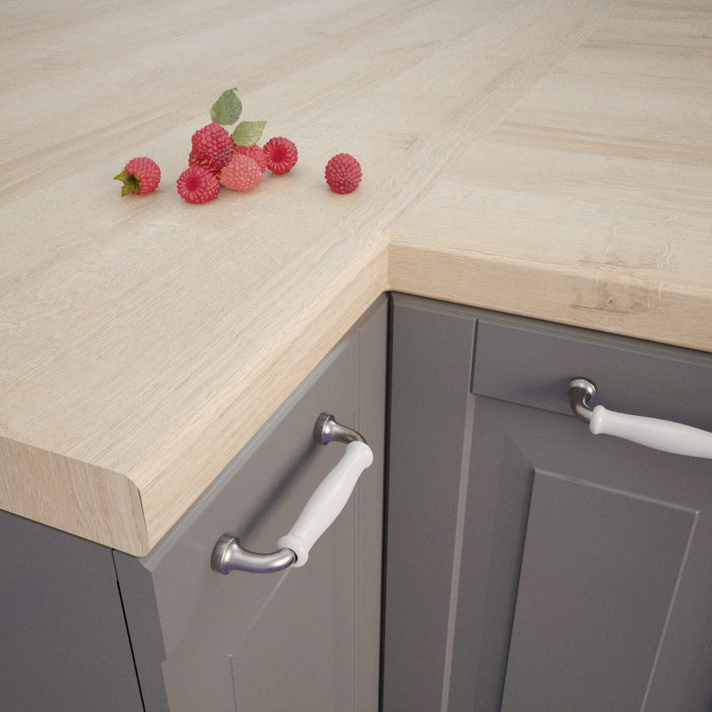 Lago Oak Light (EiL 320 Si) Bullnosed Worktop (4100mm x 600mm x 39mm)