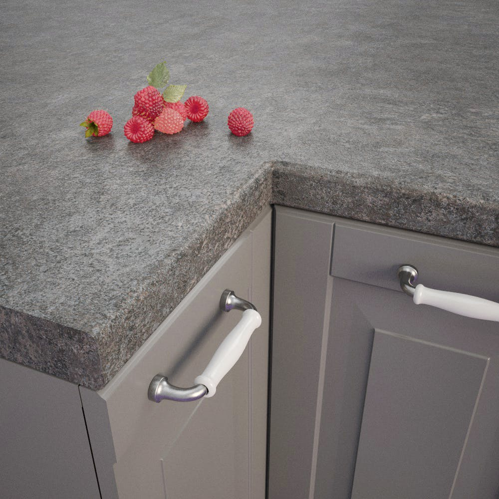 Metal Plate Grey Bullnosed Worktop (4100mm x 600mm x 39mm)