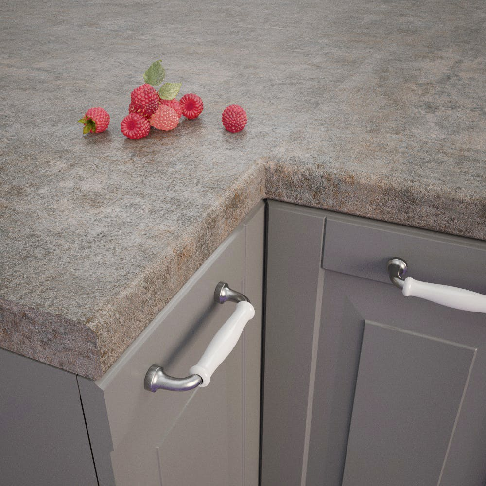 Getalit Metal Veriscolour bullnose worktop (4100mm x 600m x 39mm)