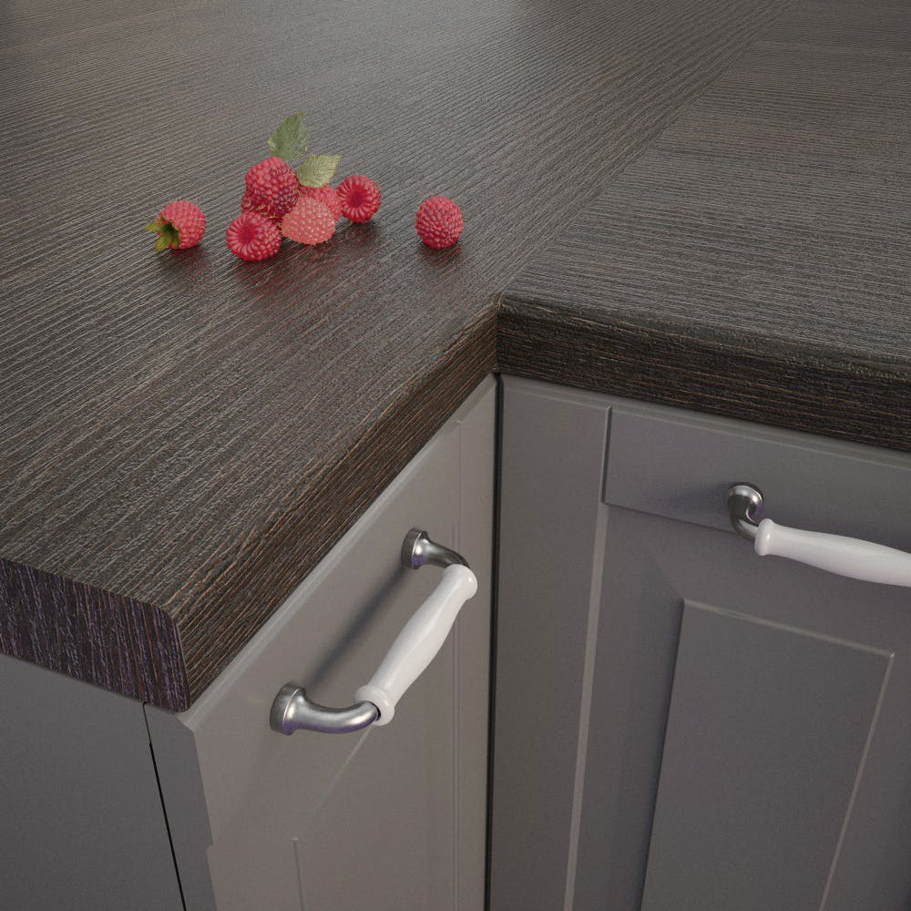 Moor Oak (MEi 170 In) Bullnosed Worktop (4100mm x 600mm x 39mm)