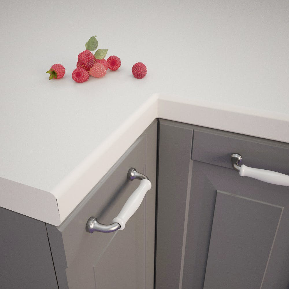 Getalit Plain White Bullnose Worktop 4100mm x 600m x 39mm
