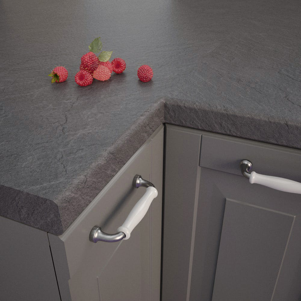 Getalit Slate Dark (SC 134 Pe) Bullnosed Worktop (4100mm x 600mm x 39mm)