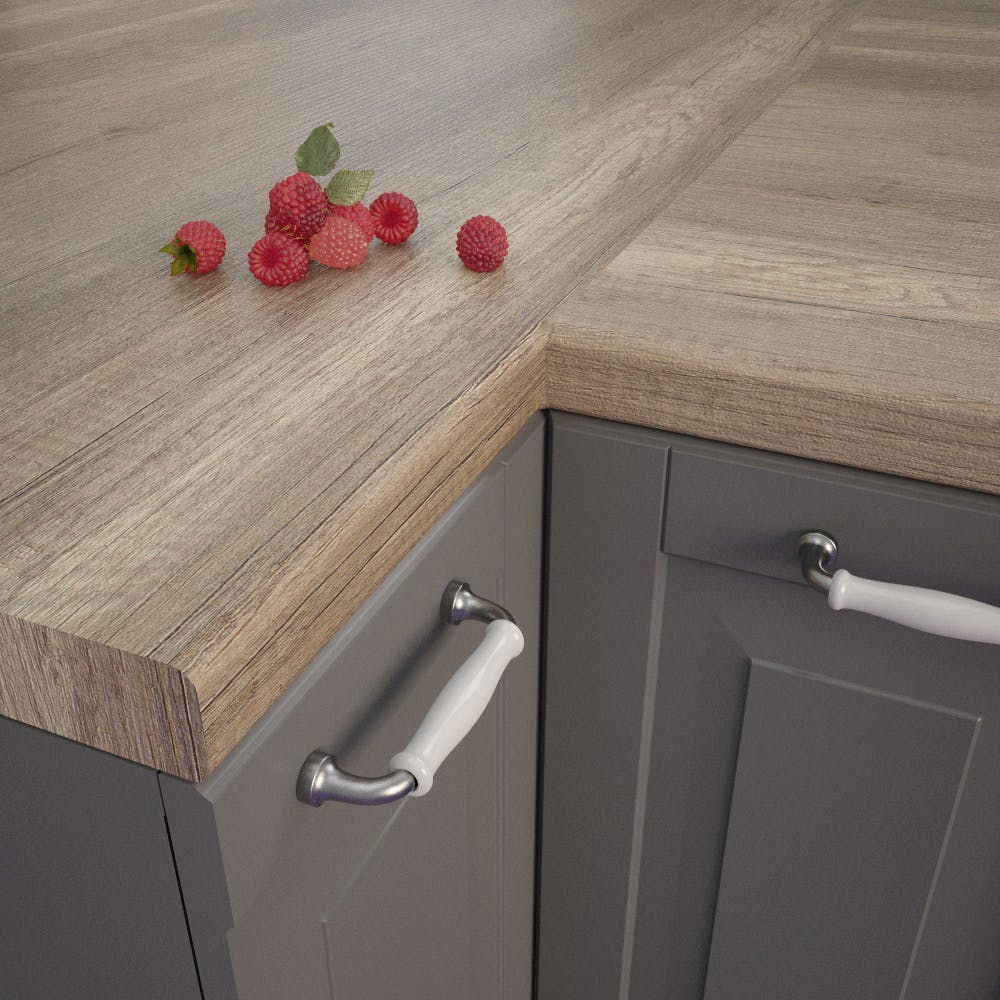 Getalit Wind Oak Beige (EiV 341 Lo) Bullnosed Worktop (4100mm x 600mm x 39mm)