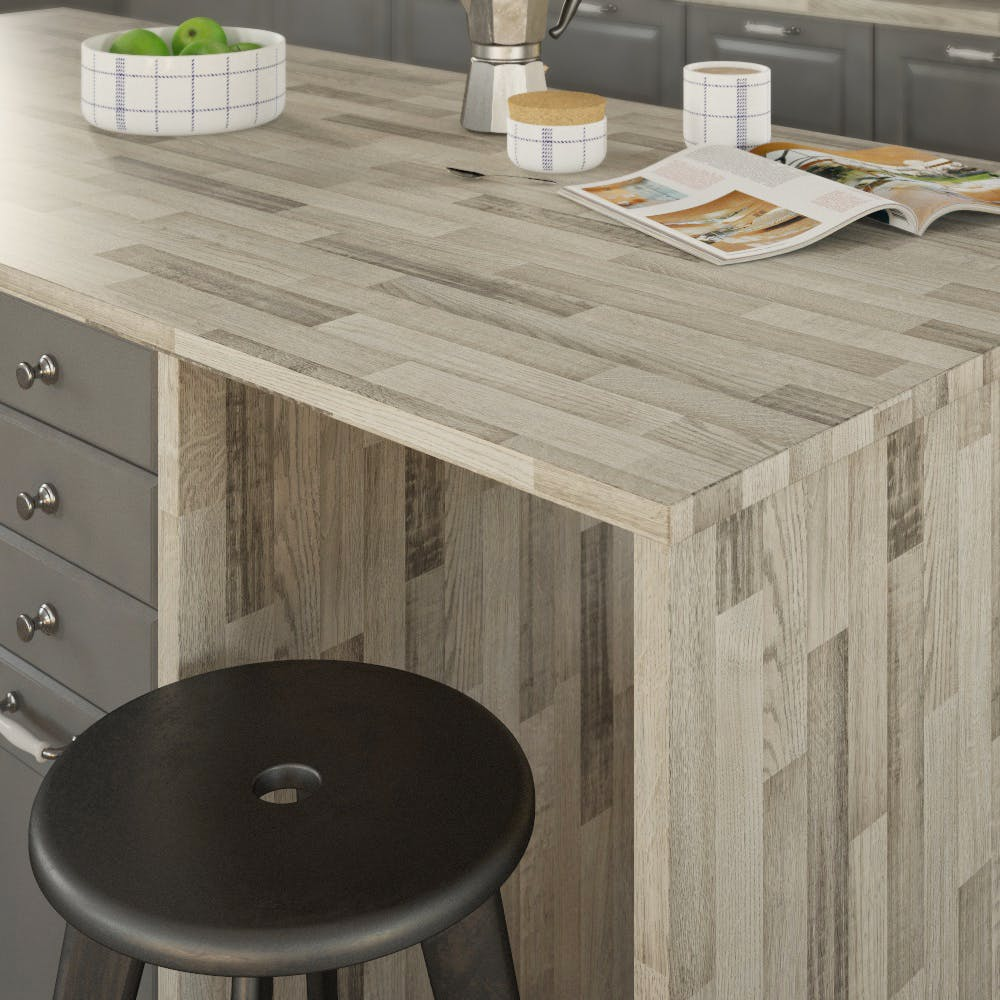Getalit Ajaccio Oak (BBL 242 PoF) Double Sided Square Edged Worktop (4100mm x 650mm x 23mm)