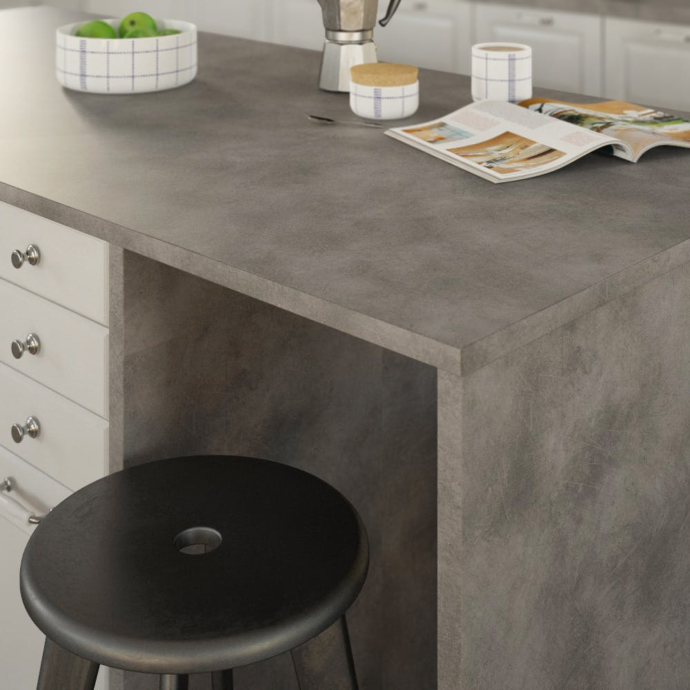 Getalit Copperfield (BN 441 Si) Double Sided Square Edged Worktop (4100mm x 650mm x 23mm)