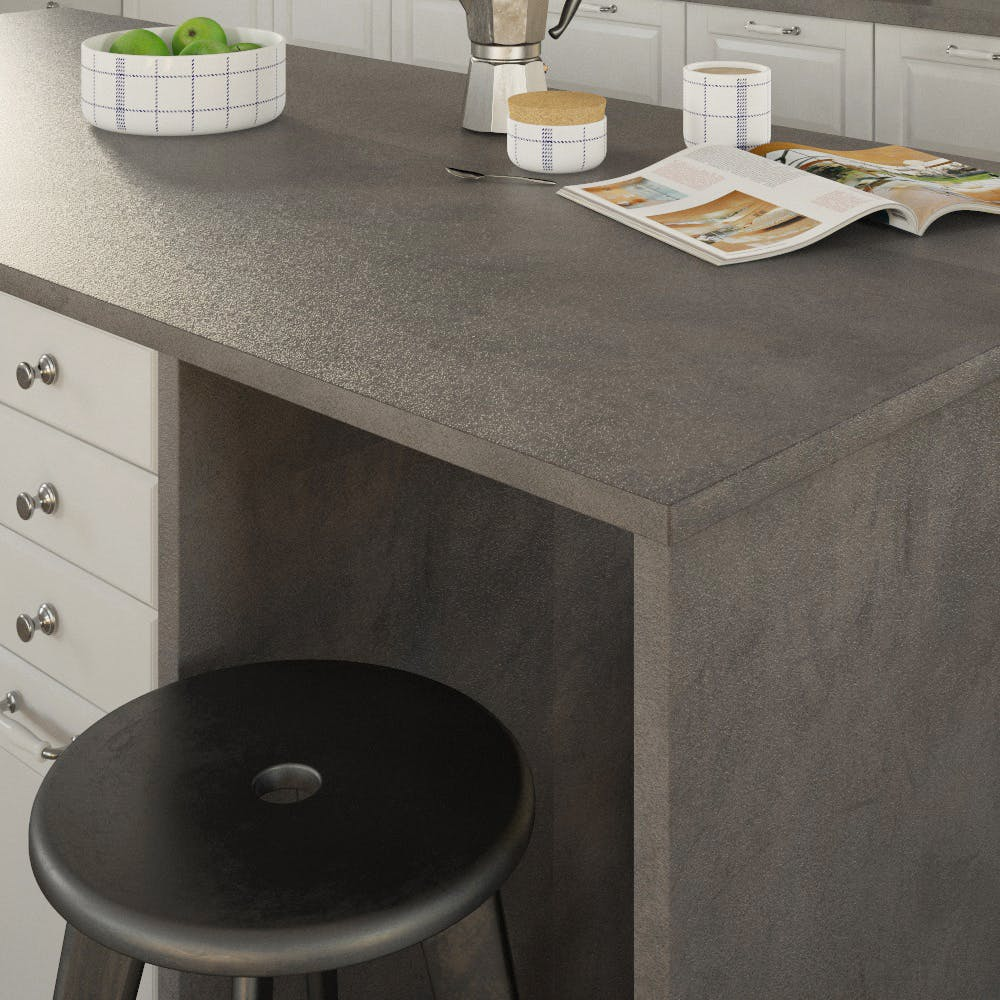 Getalit Fine Ceramic Anthracite (FC 410 Pat) Double Sided Square Edged Worktop (4100mm x 650mm x 23mm)