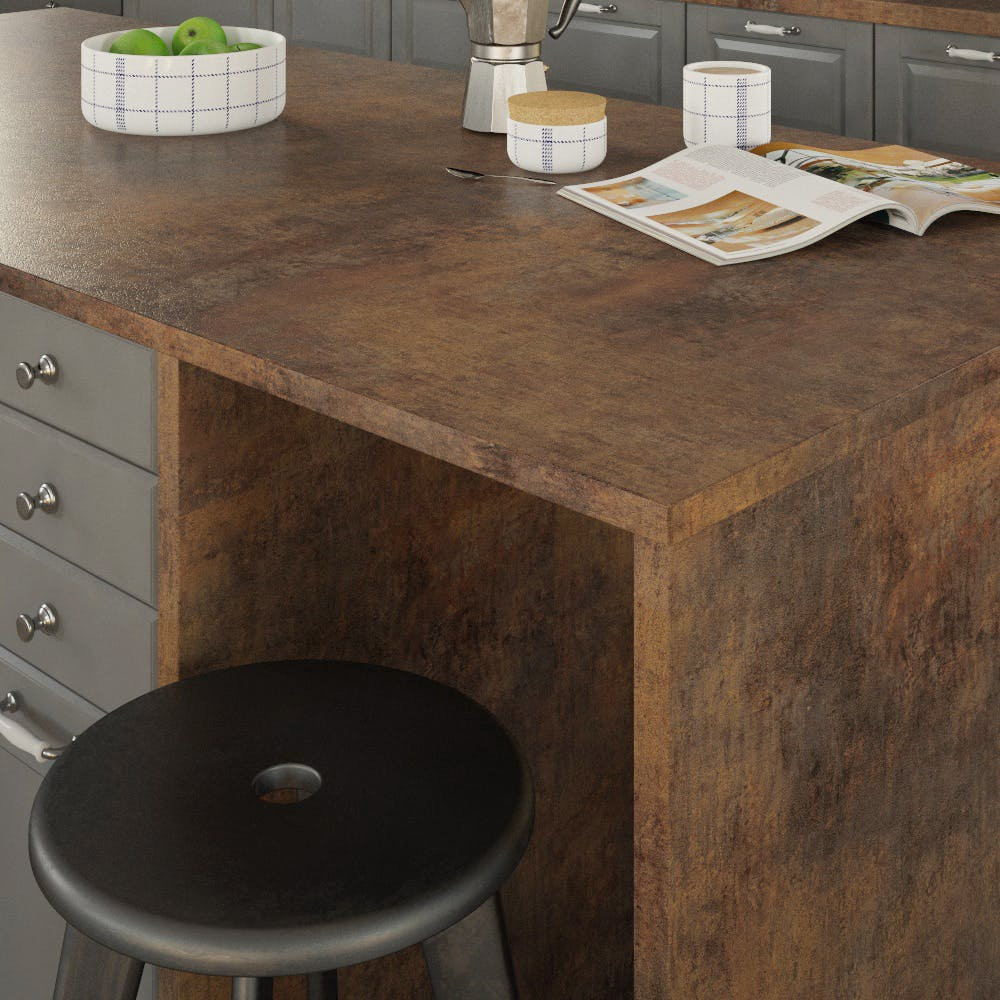 Getalit Campino Patina (H 317 Ce) Double Sided Square Edged Worktop (4100mm x 650mm x 23mm)