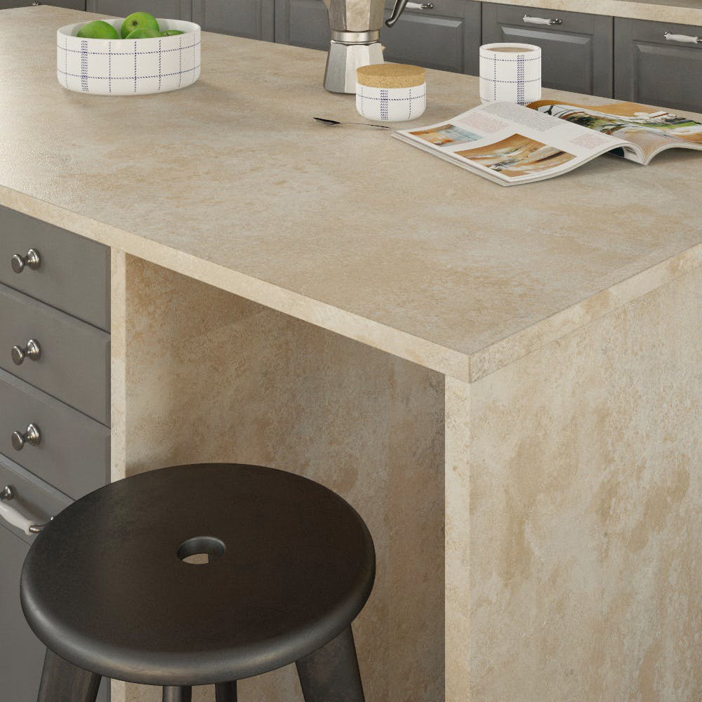 Getalit Jura Chalk Beige (JK 372 Ce) Double Sided Square Edged Worktop (4100mm x 650mm x 23mm)