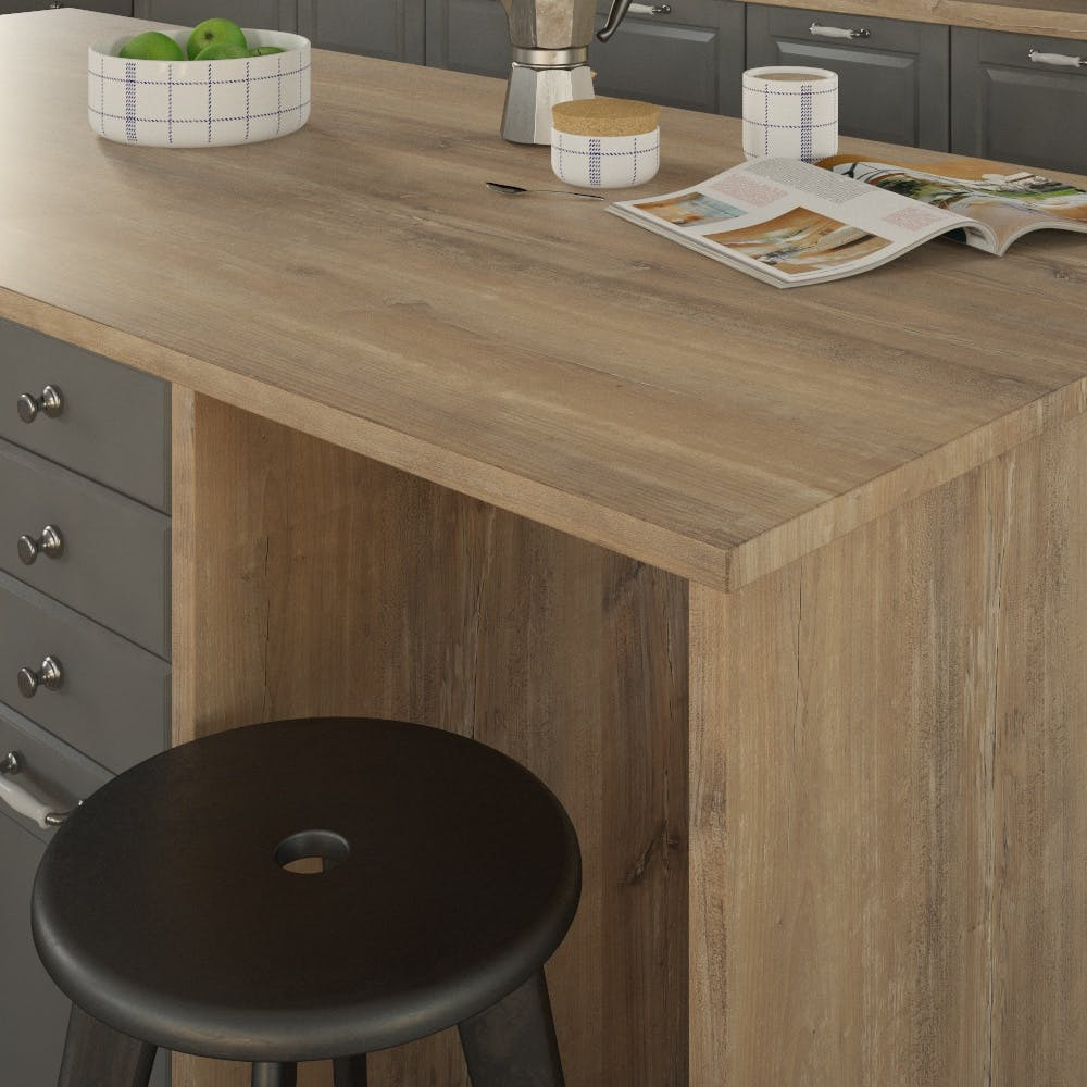 Getalit Atacama Cherry Tree (KBV 932 Si) Double Sided Square Edged Worktop (4100mm x 650mm x 23mm)