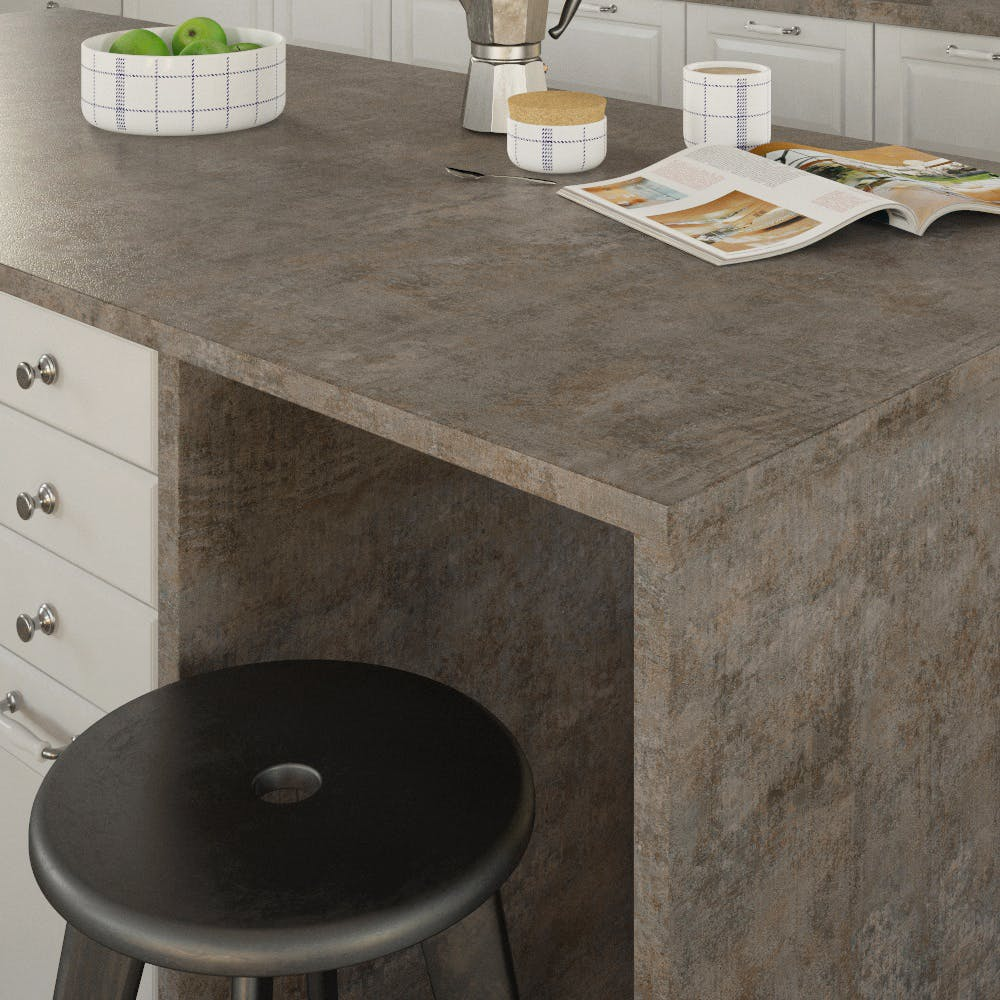 Getalit Metal Veriscolour (ME 873 Ce) Double Sided Square Edged Worktop (4100mm x 650mm x 23mm)