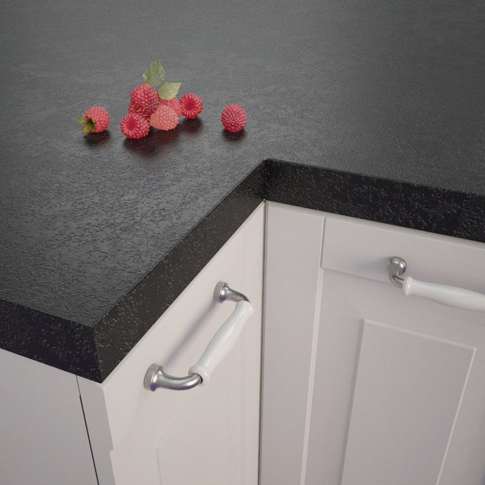 Getalit Black (A 1 Ce) Square Edged Worktop (4100mm x 650mm x 39mm)