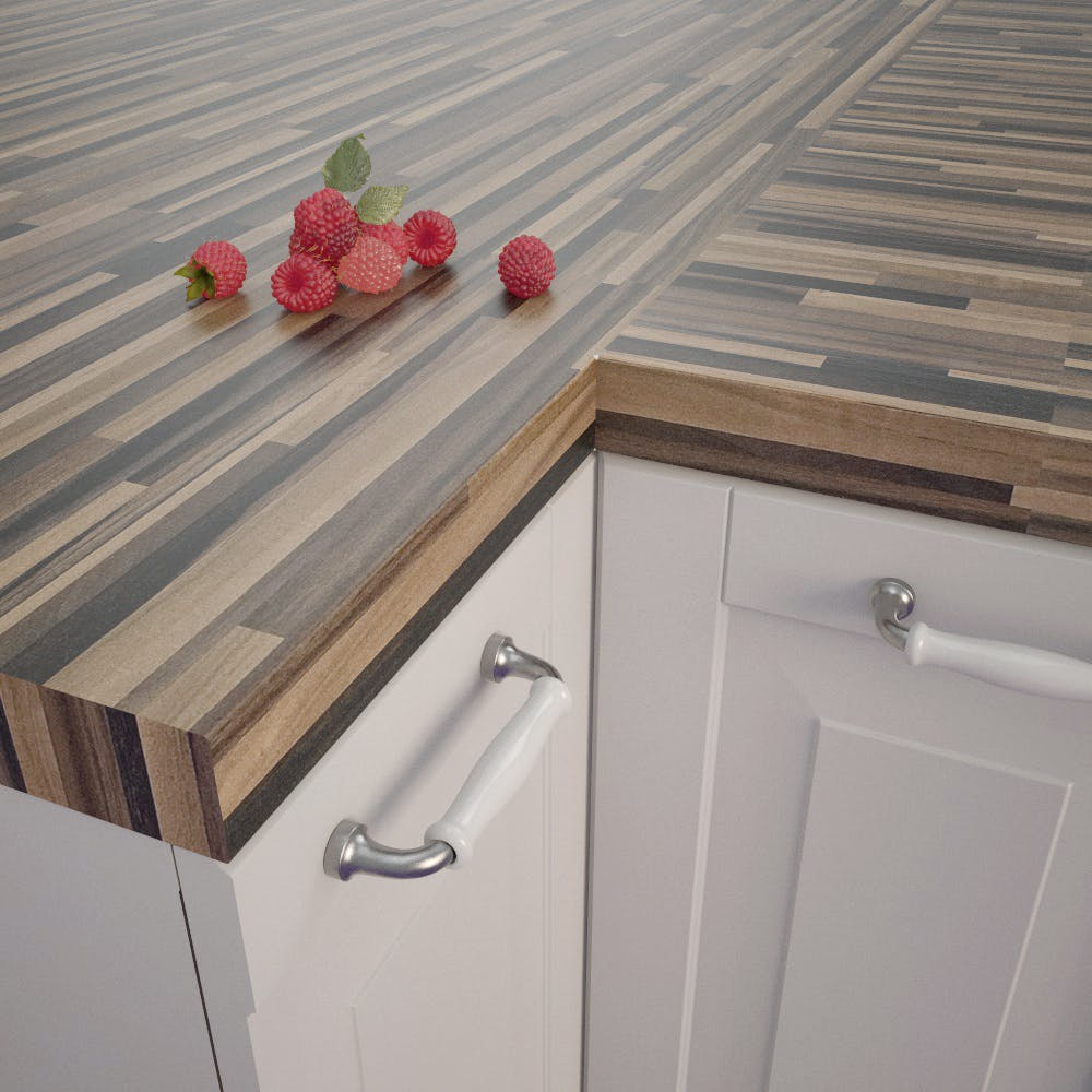Butcherblock Wenge (BBL 739 PoF) Square Edged Worktop (4100mm x 650mm x 39mm)