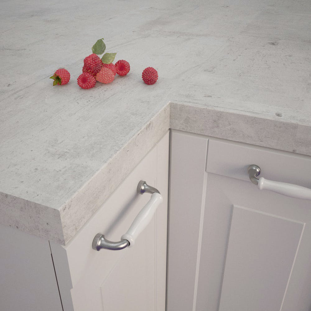 Getalit Concrete White (BN 230 Si) Square Edged Worktop (4100mm x 650mm x 39mm)