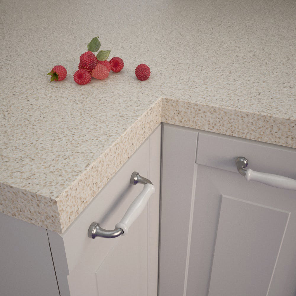 Fabrini Beige (GN 244 Pe) Square Edged Worktop (4100mm x 650mm x 39mm)