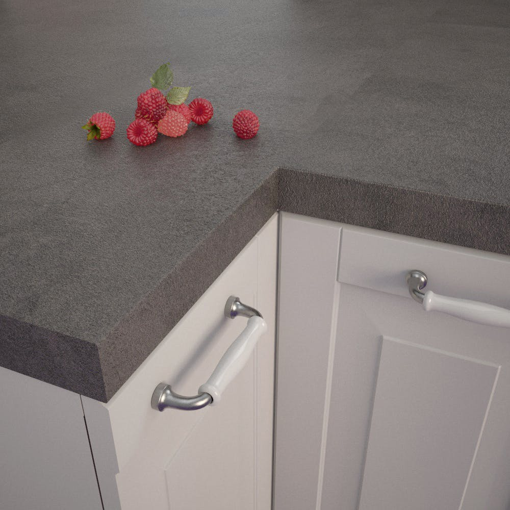 Getalit Fine Ceramic Anthracite (FC 410 Pat) Square Edged Worktop (4100mm x 650mm x 39mm)