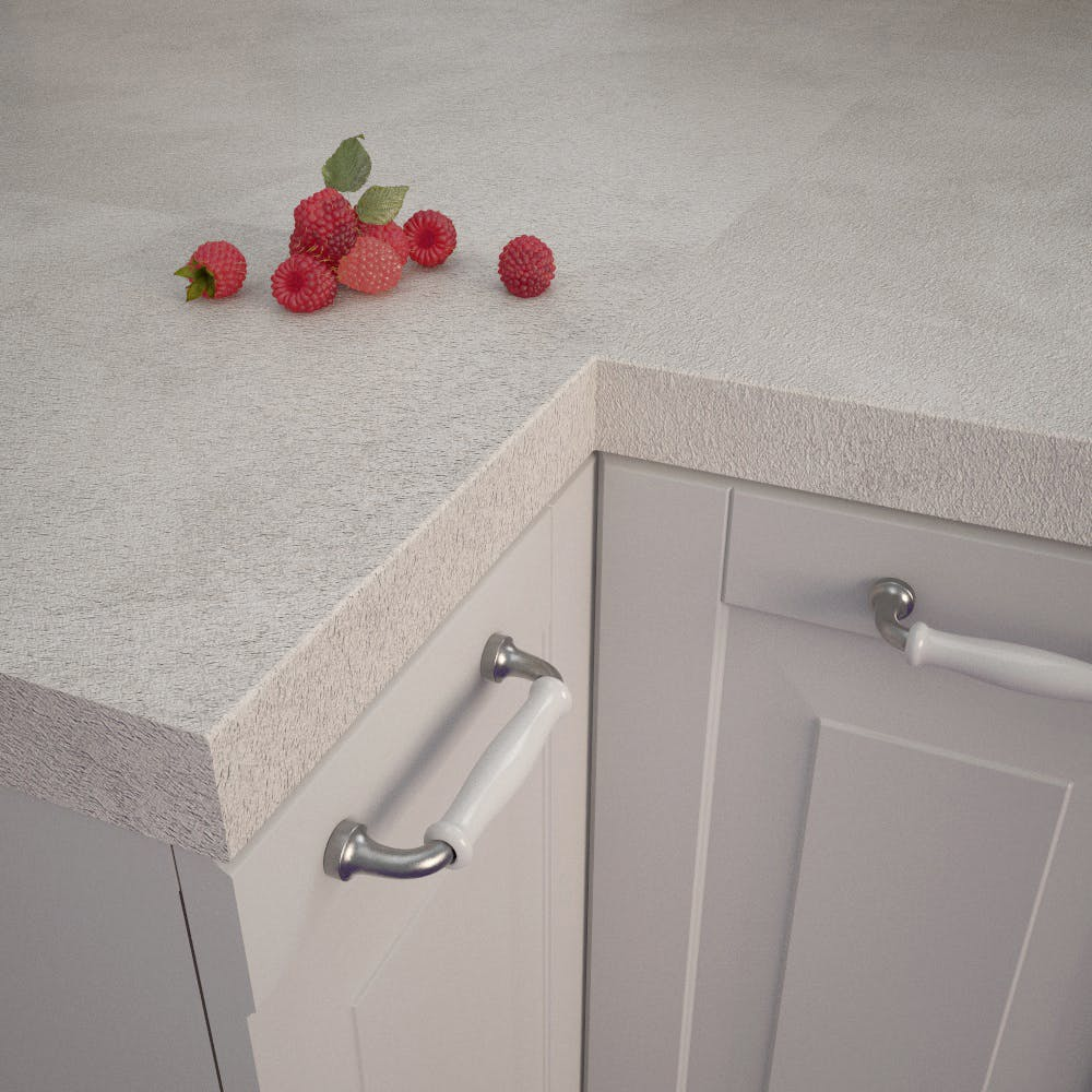 Getalit Fine Ceramic Beige (FC 320 Pe) Square Edged Worktop (4100mm x 650mm x 39mm)
