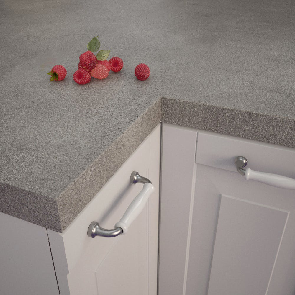 Getalit Fine Ceramic Grey (FC 440 Pat) Square Edged Worktop (4100mm x 650mm x 39mm)