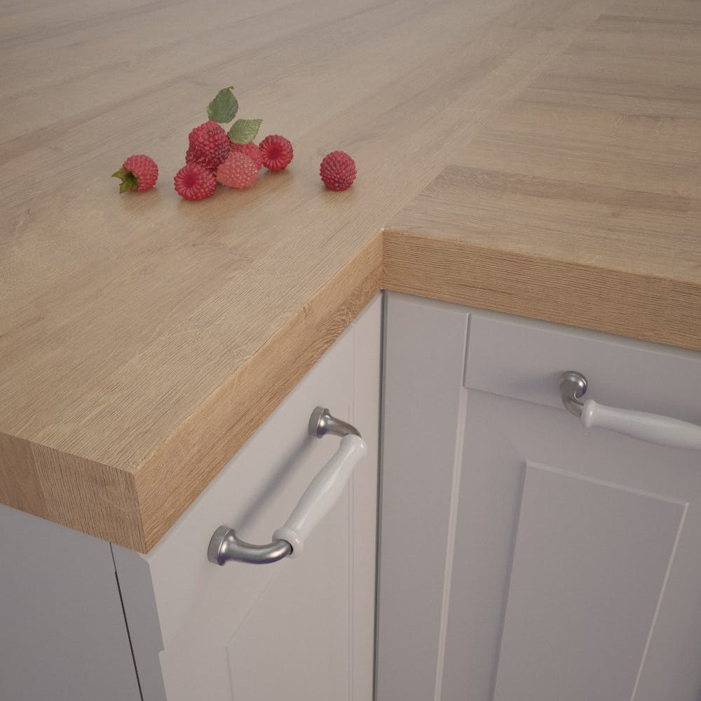 Lago Oak Dark (EiL 730 Si) Square Edged Worktop (4100mm x 650mm x 39mm)