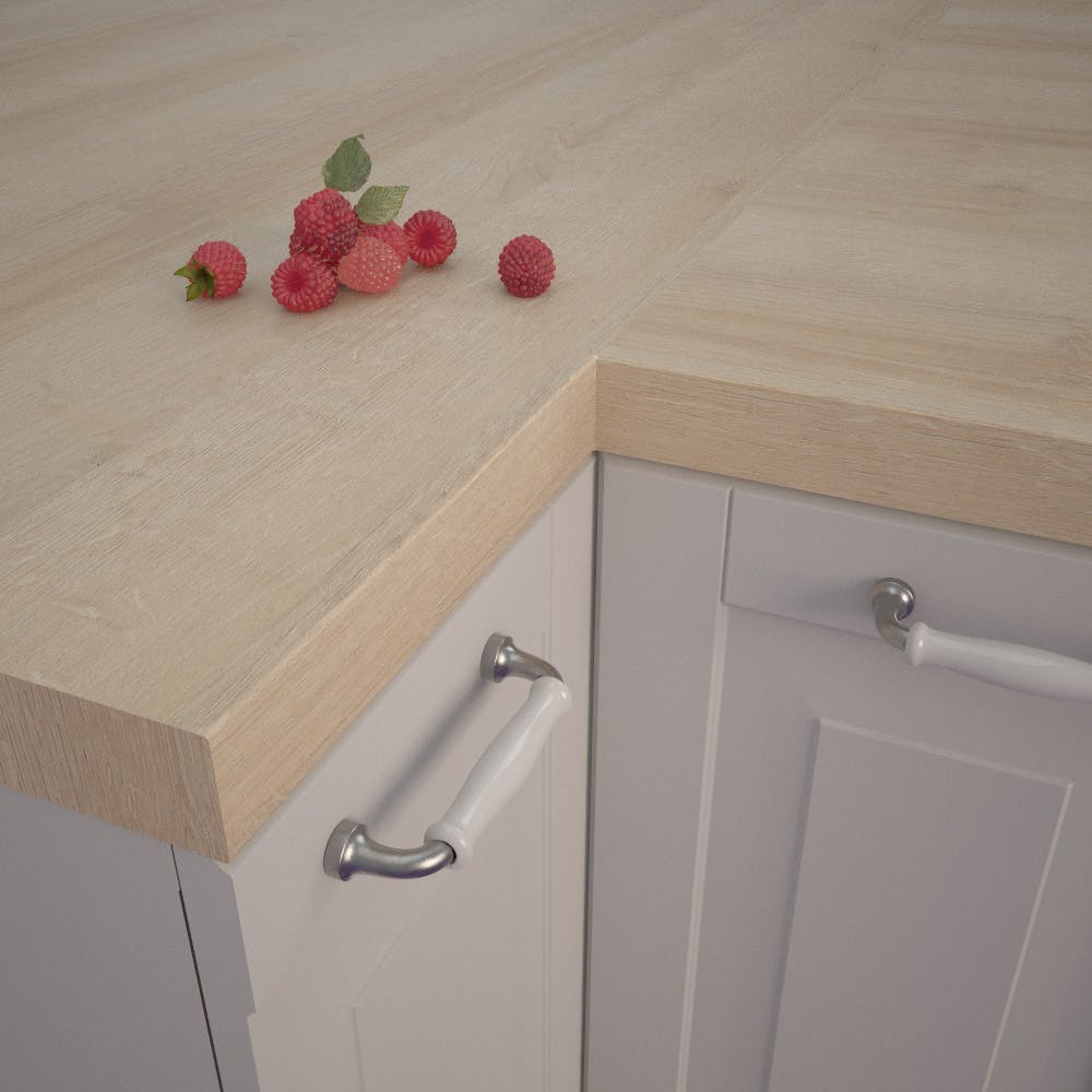 Lago Oak Light (EiL 320 Si) Square Edged Worktop (4100mm x 650mm x 39mm)