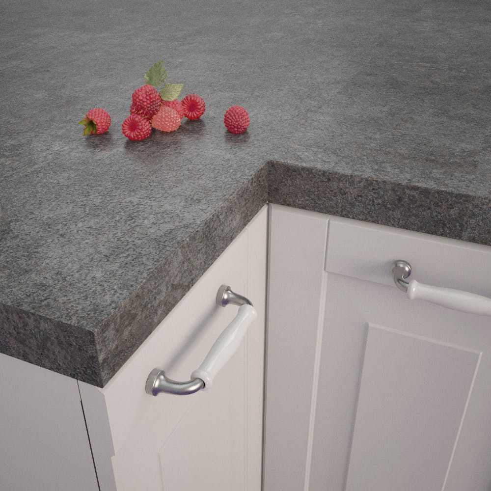 Getalit Metal Plate Grey (ME 477 Ce) Square Edged Worktop (4100mm x 650mm x 39mm)