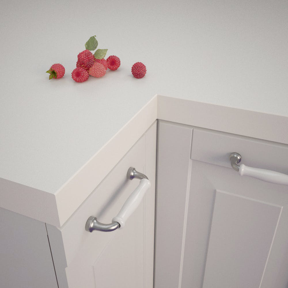 Getalit Plain White (A 242 C) Square Edged Worktop (4100mm x 650mm x 39mm)