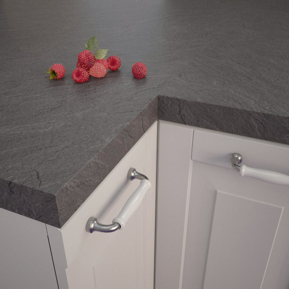 Getalit Porto Slate (SC 475 Pe) Square Edged Worktop (4100mm x 650mm x 39mm)