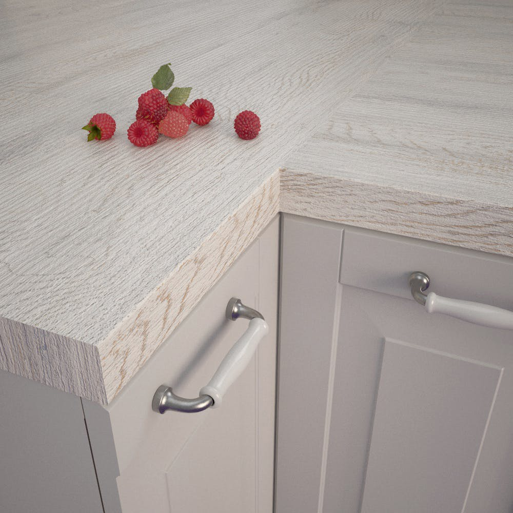 Getalit Provence Oak (EiV 227 Lo) Square Edged Worktop (4100mm x 650mm x 39mm)