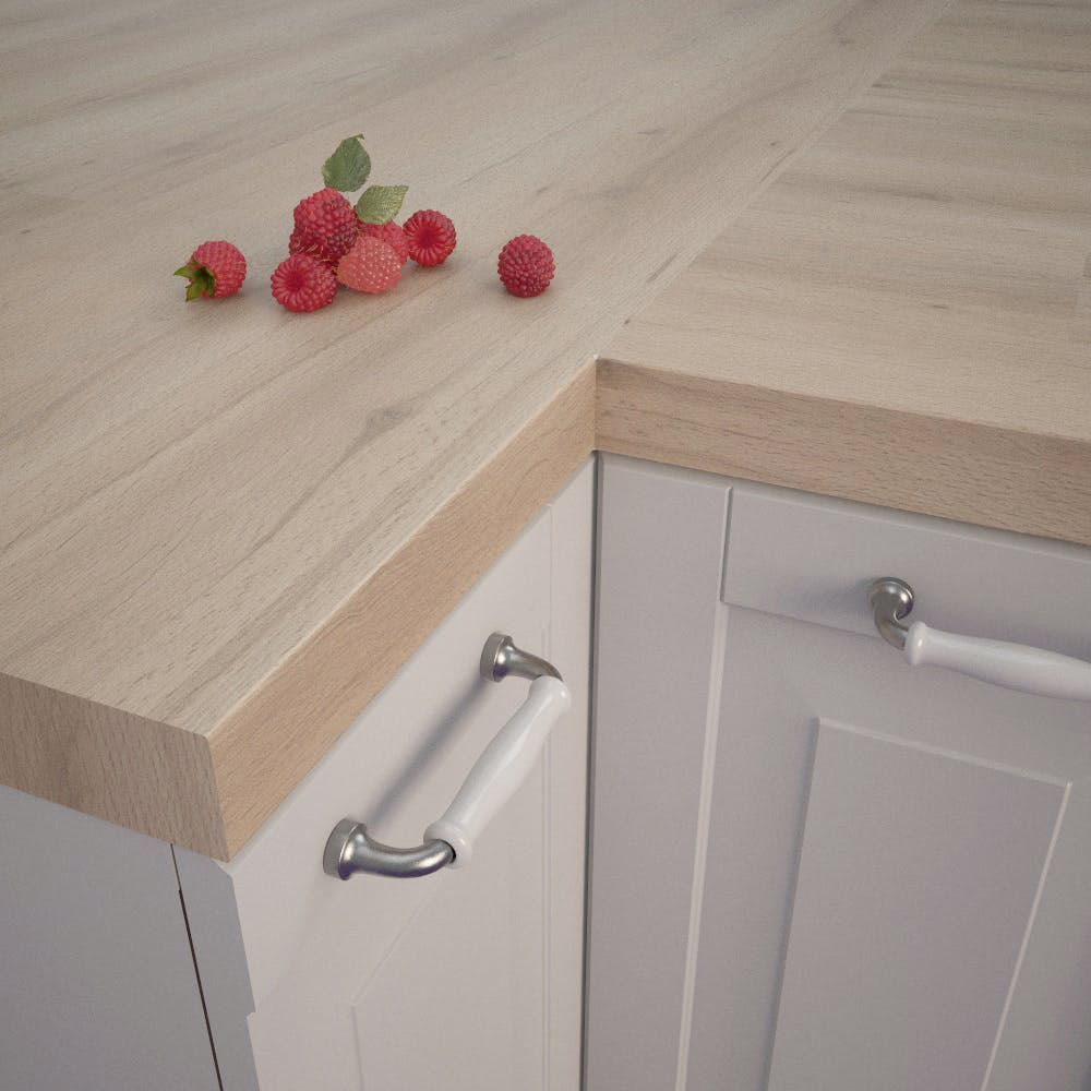 Semper Beech (BU 370 Si) Square Edged Worktop (4100mm x 650mm x 39mm)