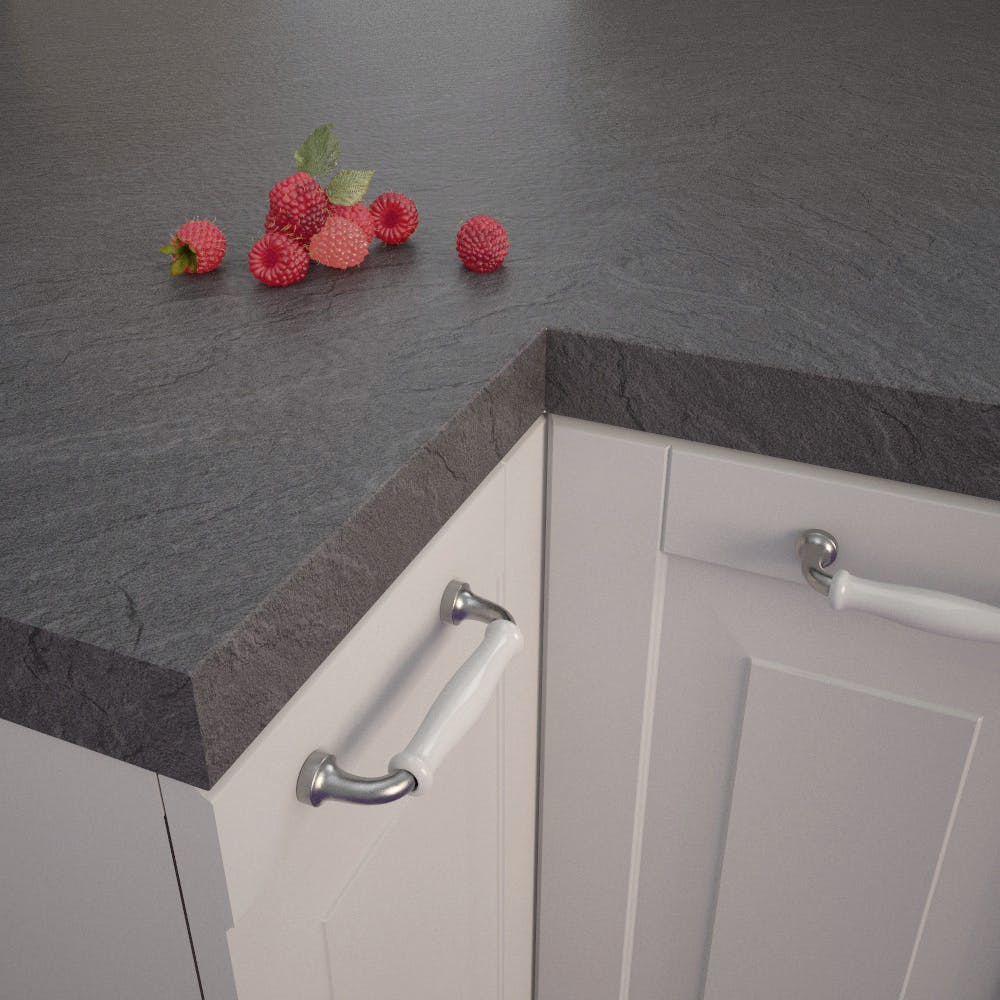 Getalit Slate Dark (SC 134 Pe) Square Edged Worktop (4100mm x 650mm x 39mm)
