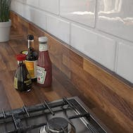 Nut Tree Butcherblock Dark (BBL 467 PoF) Upstand (4100 x 150 x 14mm)