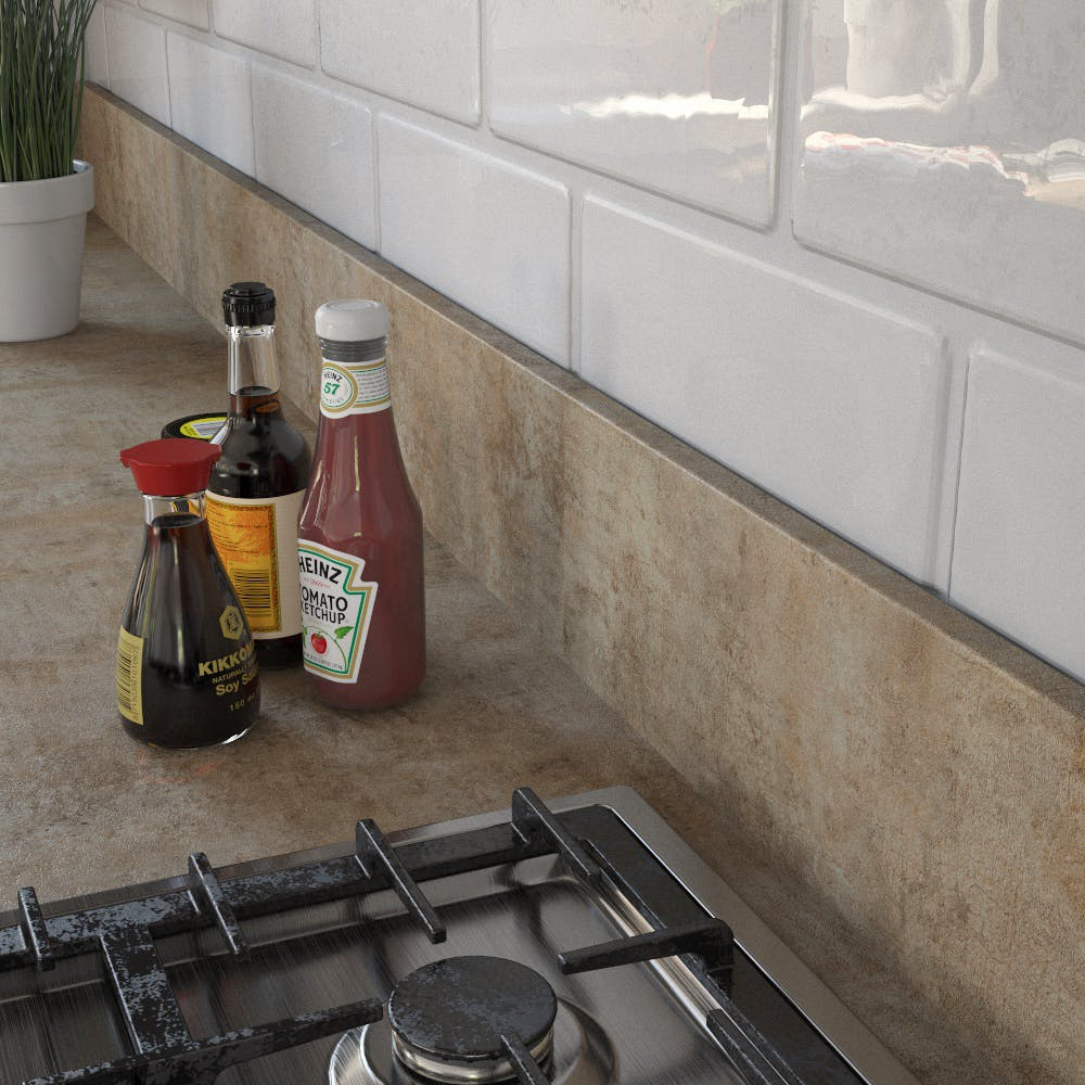 Getalit Campino Concrete (H 437 Ce) Upstand (4100 x 150 x 14mm)