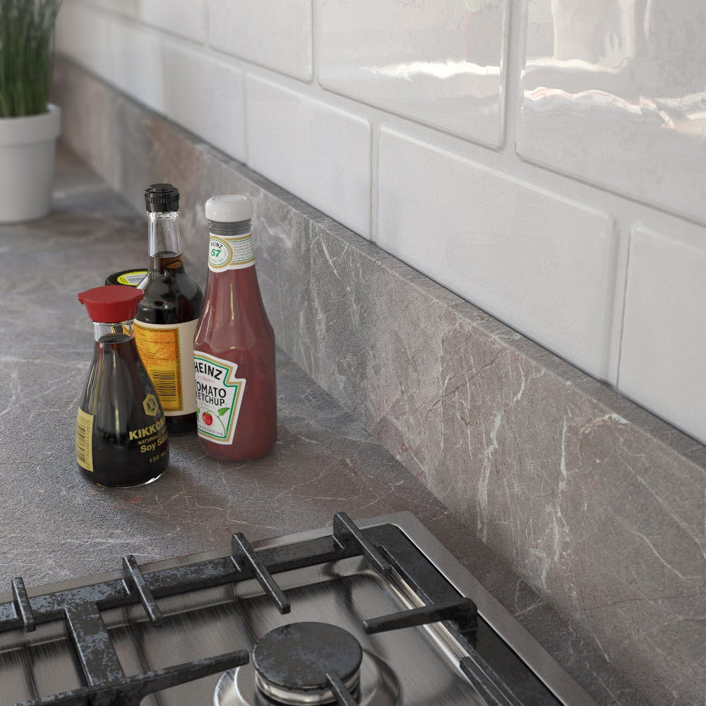 Marble Marquina Brown Grey (SL 120 Sc) Upstand (4100 x 150 x 14mm)