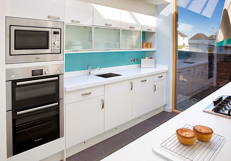 Aqua Gloss Kitchen Splashback (2420 x 1200 x 11mm)