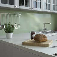 Green Frost Gloss Kitchen Splashback (2420 x 1200 x 11mm)
