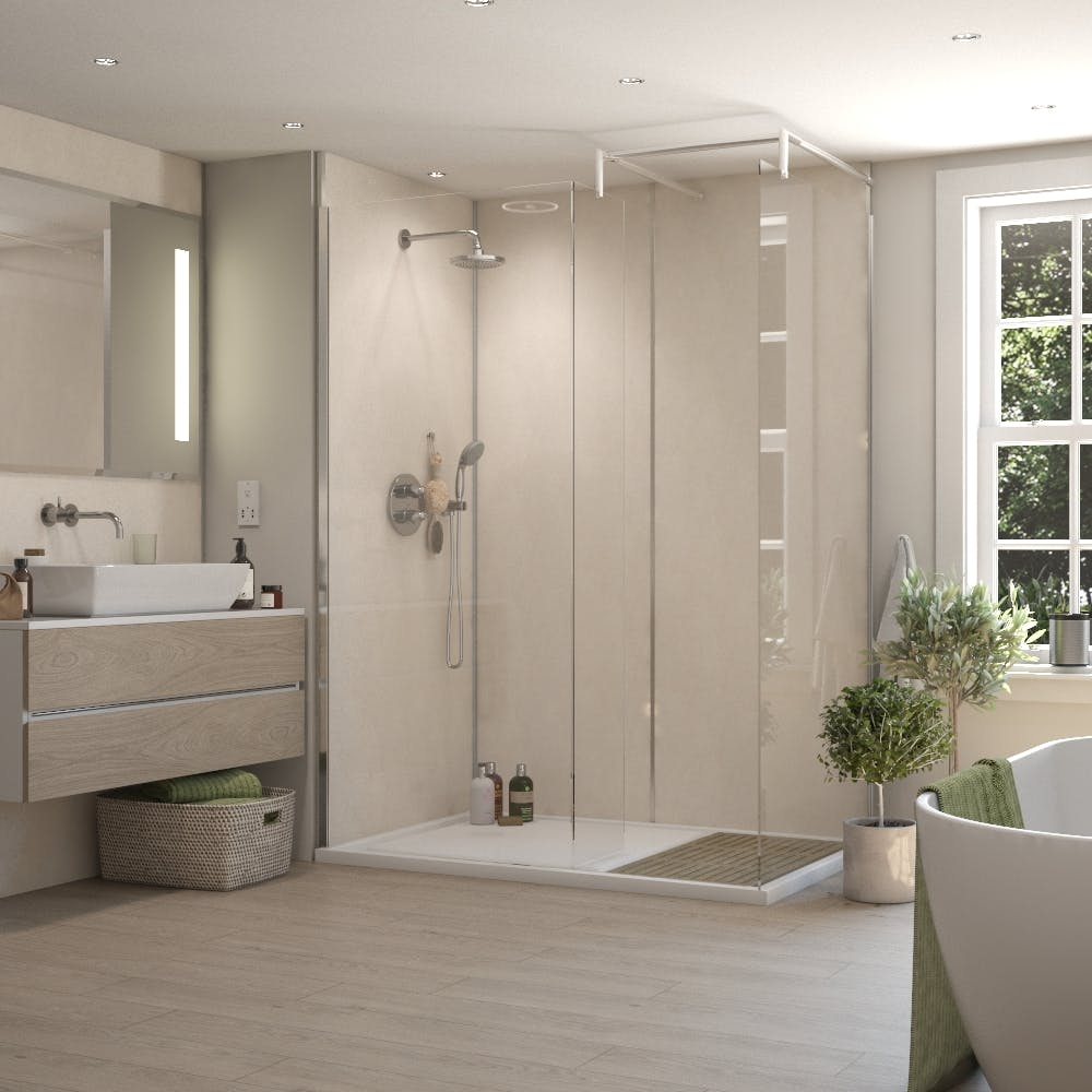 Summer Cloud Gloss MR MDF Shower Panel Tongue & Groove (2420mm x 1200mm x 11mm)