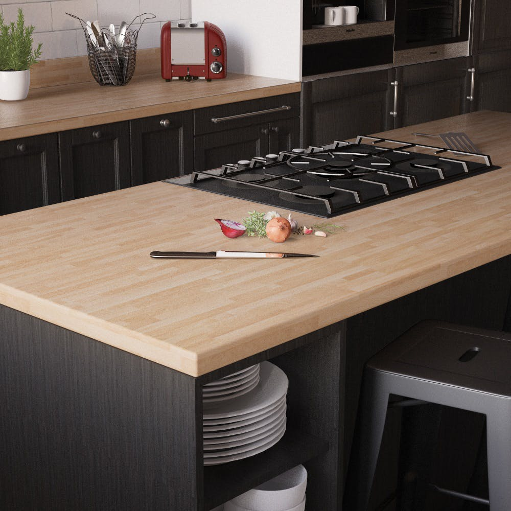 Beech Butcher Block Breakfast Bar (3000mm x 900mm x 38mm)
